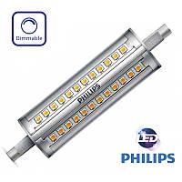 Светодиодная диммируемая прожекторная лампа J118 Philips R7s LED 14Вт с теплым светом