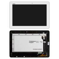 Дисплей для планшета Asus MeMO Pad 10 ME102A, белый, с сенсорным экраном, с рамкой, #B101EAN01.1/MCF-101-1856-01-FPC-V1.0
