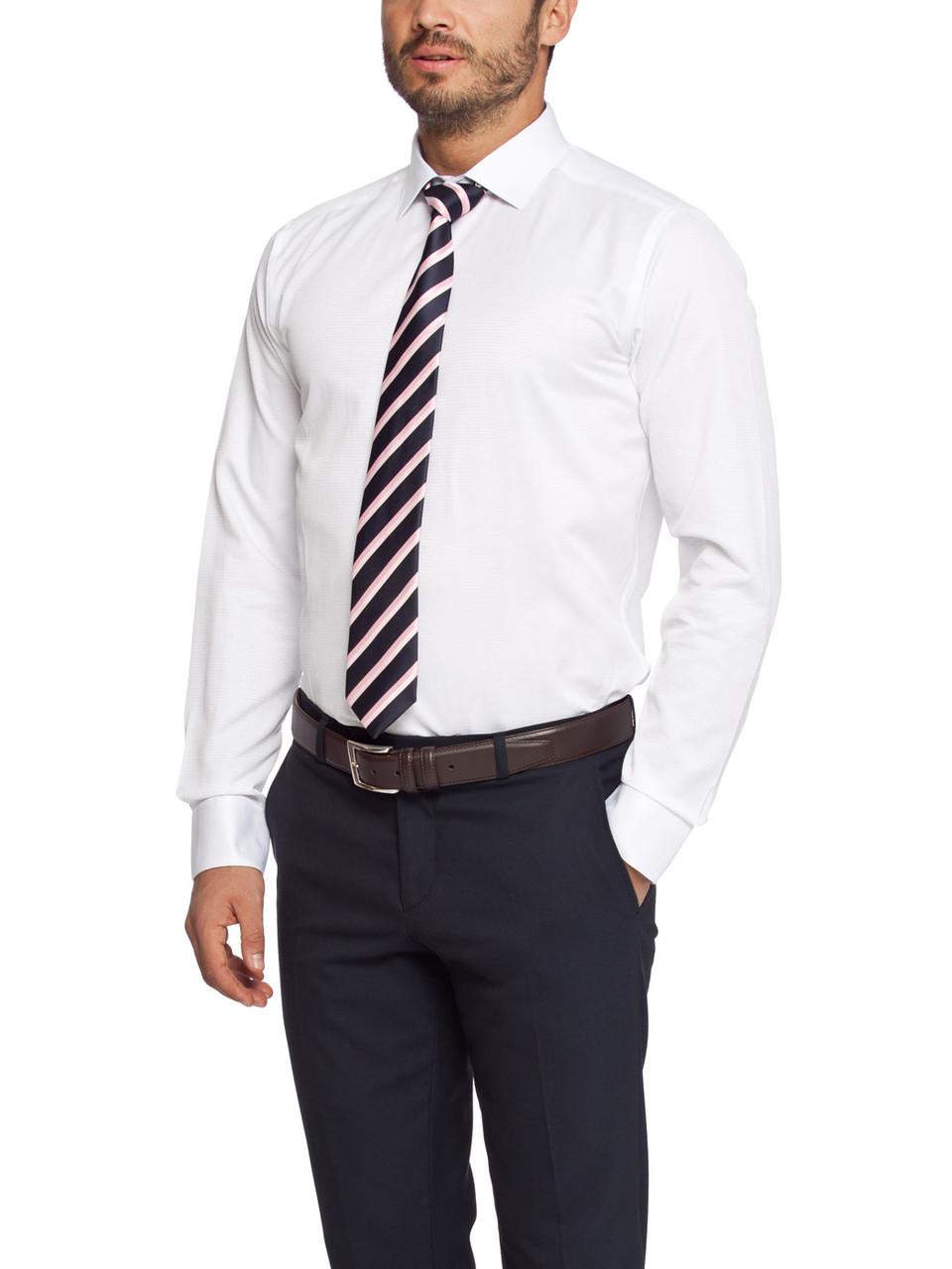 Мужская рубашка LC Waikiki белого цвета в мелкую клетку
