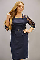 Шанталь. Платья супер батал. Синий., фото 1