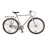 "Велосипед 28"" Dorozhnik URBAN 14G рама-24"" St белый  с багажником зад St, с крылом St 2017"