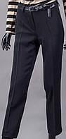 Брюки  женские черные шерстяные с карманами на подколенниках.