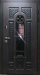 """Вхідні двері для вулиці """"Портала"""" (Patina Премії) ― модель BIG-16 (3-D, патина)"""