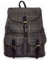 Женский рюкзак в клетку шотландка. Сумка портфель высокое качество! СР300