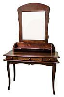 """Деревянная мебель для спальни. Изящное трюмо на фигурных ножках, от мебельной фабрики""""Скиф"""", модель Т-12"""