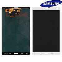 Дисплейный модуль (дисплей + сенсор) для Samsung T705 Galaxy Tab S 8.4 LTE (3G), белый, оригинал