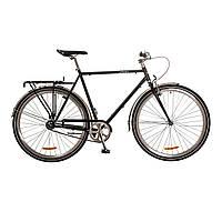 "Велосипед 28"" Dorozhnik URBAN 14G рама-24"" St черный с багажником зад St, с крылом St 2017"