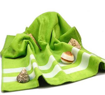 Полотенце пляжное велюровое Homeline салатовое 70х150, фото 2
