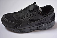 Кроссовки Nike air Huarache black найк хуарачи черные