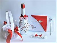 Аксессуары для свадьбы в красном цвете