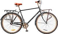 "Велосипед 28"" Dorozhnik COMFORT MALE 14G планет.  рама-22"" St серый  с багажником 2017"
