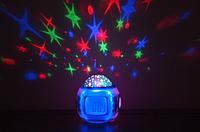 Часы-Проектор звезд термометр со звуками природы и колыбельными звездное небо