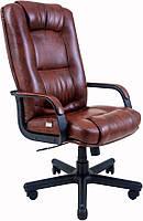 Кресло для руководителя Альберто пластик Кожа-Люкс двухсторонняя