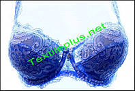 Бюстгалтер ярко синий с белым Lanny mode 12925