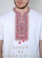 Вишита футболка чоловіча Традиція біла, фото 1