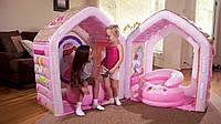 Игровой центр-домик Intex 48635  принцессы 124*109*122см ***
