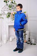 """Детская куртка для мальчика осень весна """"Мачо"""", электрик"""