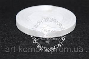 Атласная лента 0,6 см, белая №01