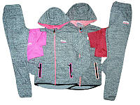 Костюм спортивный-тройка для девочек, размер 8 лет, Seagull, арт. CSQ-39009