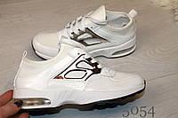 Женские белые лаковые кроссовки