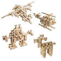 Деревянный конструктор для детей Фантазия (120 деталей Игротеко)