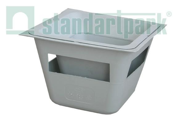 Кессонный сифон для дождеприемника 40.40 КС-35.35,5 пластиковый
