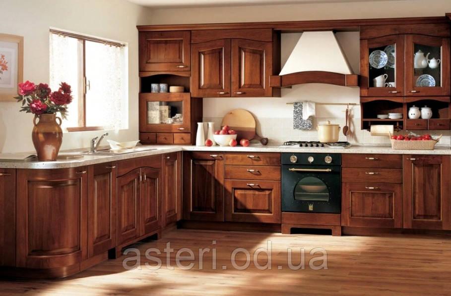 Реставрация кухонного гарнитура из натурального дерева
