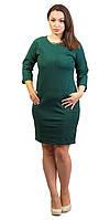 Платье женское увеличеный размер зеленое