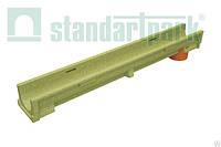 Лоток CompoMax Basic 10.14.06 полимербетонный с вертикальным отводом