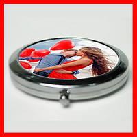Печать на зеркальце отличный подарок для девушки