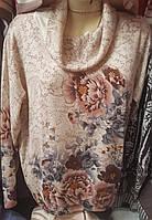 Оригинальная кофта с цветочный принт