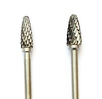 "Борфреза, тип ""F"", Закругленная парабола,  диаметр 4 мм, хвостовик 3мм"