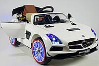 Детский электромобиль Mercedes GT AMG (белый)