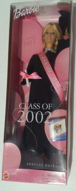 Кукла Барби коллекционная Barbie Class of 2002 Special Edition Doll w Black Grad Gown (2001)