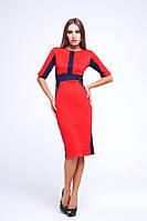 Платье Маргарэт синий+красный