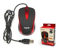 USB проводная оптическая мышка Havit HV-MS675 Red