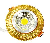 Светодиодный светильник LEDEX COB light 6W RGB Gold 3000K