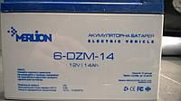 Тяговый аккумулятор Merlion 6-DZM-14 (12V14Ah) для электровелосипедов и электроскутеров