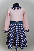 Платье для девочки, нарядное, в клетку, фото 1