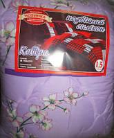 Одеяло полуторное 140х200 см поликоттон двойной силикон TM KRISPOL