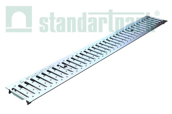 Решетка  Basic 10.14.100-К штампованная нержавеющая сталь