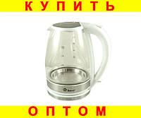 Стеклянный электро чайник Domotec MS-8114 White
