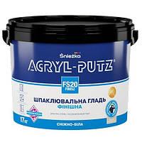 Фінішна шпаклювальна гладь для стін, стель та гіпсокартонних плит Акрил-Пуц 27 кг