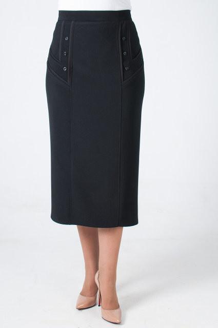 Класична чорна жіноча спідниця в розмірі 70