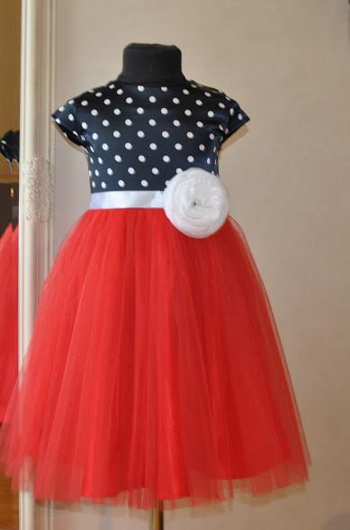 Нарядное платье для девочек Горошек - Малина - Перша подарункова майстерня  Compliment в Днепре 68785038130af