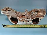 С62 Керамическая декорация для аквариума Корабль средний, фото 2