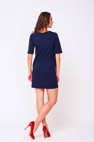 Платье из двунитки Роза темно-синее, фото 2