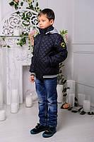 """Детская куртка для мальчика осень весна """"Мачо"""", графит"""