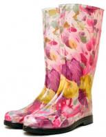 Сапоги резиновые Женские цветные с принтом Псков