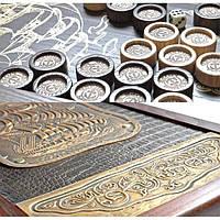 """""""Фрегат золотой"""", набор для игры в нарды: большая доска из дерева, кожанные и латунные"""